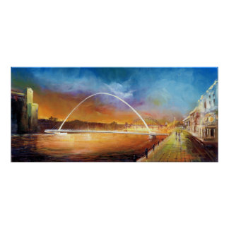 Millennium Bridge Newcastle upon Tyne Print