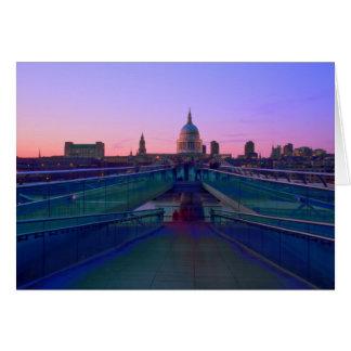 Millennium bridge Thames Bridges Card