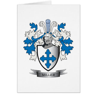 Miller Family Crest Coat of Arms Card