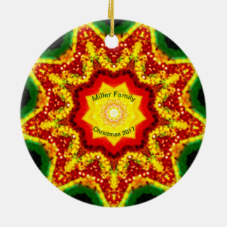 MILLER FAMILY ~ Personalized Christmas Fractal ~ Ceramic Ornament