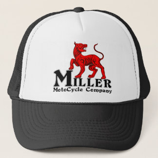 Miller Motocycle Logo on a trucker Hat