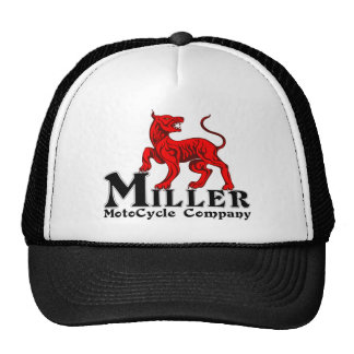 Miller Motocycle Logo on a trucker Hat
