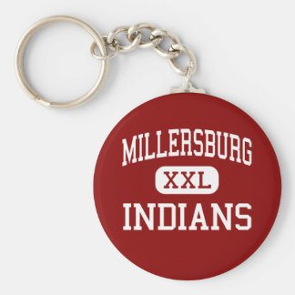 Millersburg - Indians - Area - Millersburg Basic Round Button Keychain