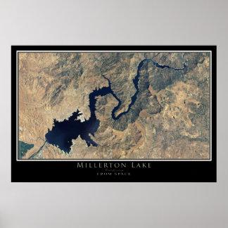 Millerton Lake California Satellite Poster