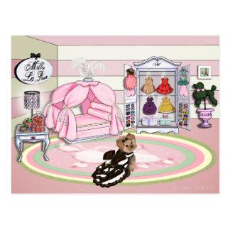 Millie LaRue French Bedroom Postcard