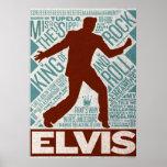 Million de type d'Elvis de quartet du dollar Poster