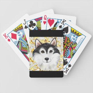 Million Dollar Alaskan Malamute Bicycle Playing Cards