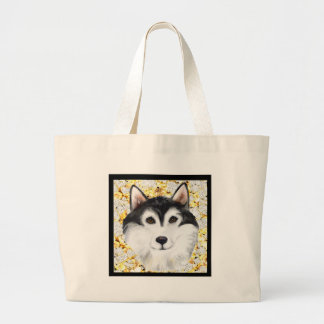 Million Dollar Alaskan Malamute Large Tote Bag