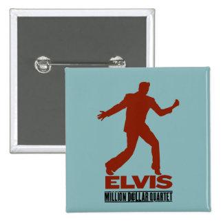 Million Dollar Quartet Elvis 2 Inch Square Button