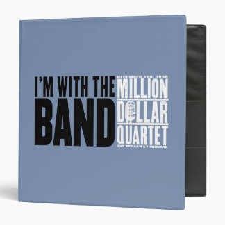 "Million Dollar Quartet ""I'm With the Band"" 3 Ring Binder"