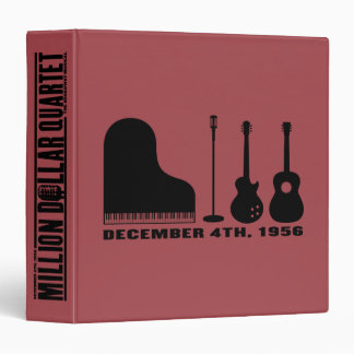 Million Dollar Quartet Instruments - Black Vinyl Binders