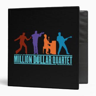 Million Dollar Quartet On Stage 3 Ring Binder