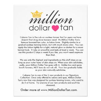 Million Dollar Tan's Cabana Tan Card Vertical