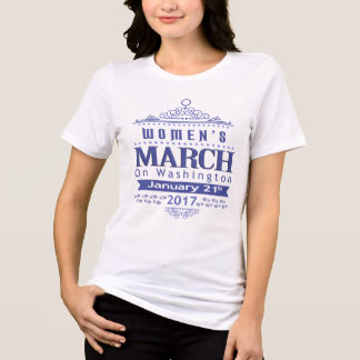 Million Women's March on Washington 2017 Blue Tee