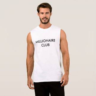 MILLIONAIRE CLUB SLEEVELESS SHIRT
