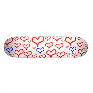 Millions of hearts skate board deck
