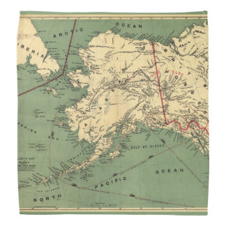 Millroy's map of Alaska and the Klondyke gold Bandana