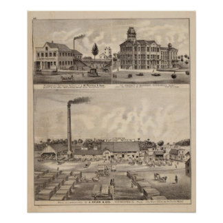 Mills and Lumberyard in Minnesota Poster