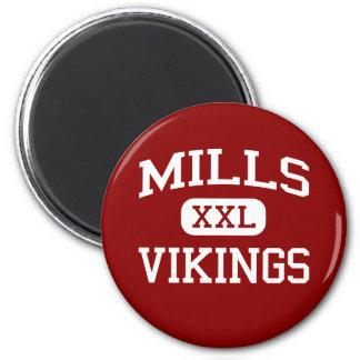 Mills - Vikings - High - Millbrae California 2 Inch Round Magnet