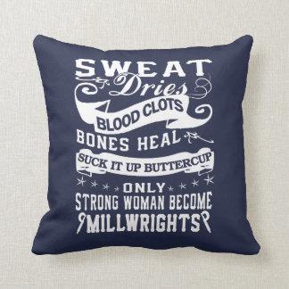 Millwright Woman Throw Pillow