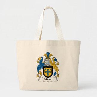 Milne Family Crest Large Tote Bag