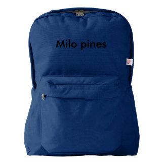 milo pines  back pack backpack