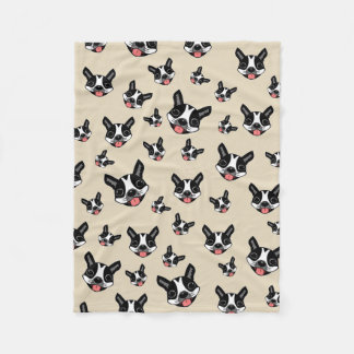 Milo The Boston Terrier Fleece Blanket