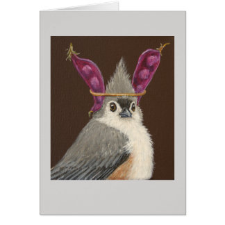Milo the tufted titmouse card