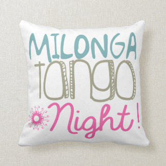 Milonga Tango Night Throw Pillow