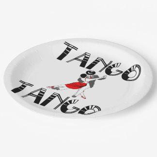 Milongueros Tango Dancers 9 Inch Paper Plate