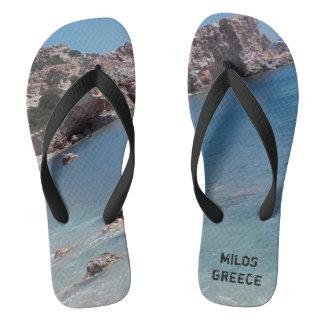 MILOS GREECE FLIP FLOPS