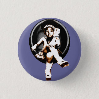 Miltant Toddler Girl: Soul Egg 1 Inch Round Button