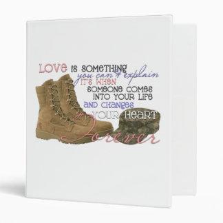 Miltary kinda love 3 ring binder