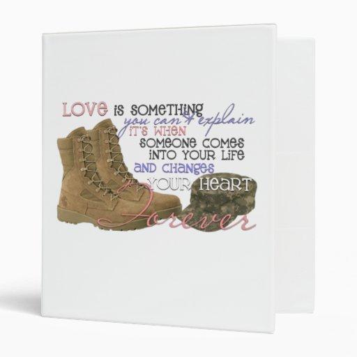 Miltary kinda love binders