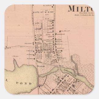 Milton Delaware Square Sticker