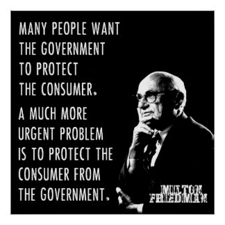 Milton Friedman Free Market Capitalism Libertarian Poster