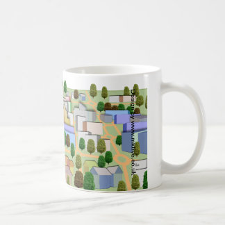 Milton Keynes bird's eye panorama mug