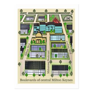 Milton Keynes Boulevards postcard