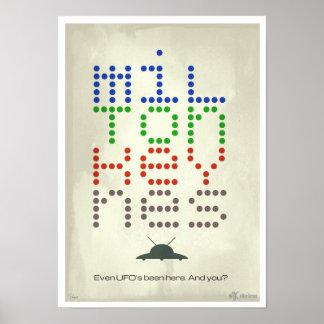 Milton Keynes Even UFO poster print