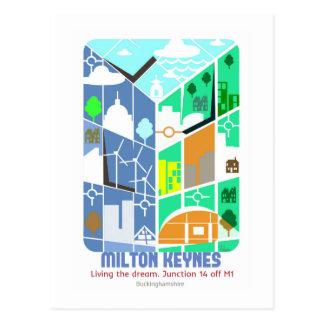 Milton Keynes. Living the dream postcard