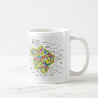 Milton Keynes 'map by hand' mug
