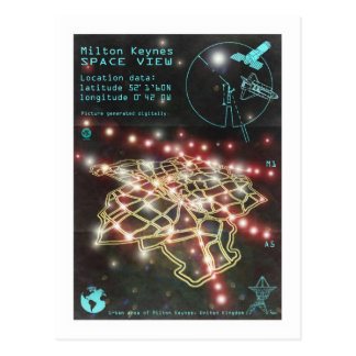 Milton Keynes Space View postcard