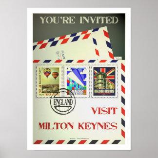Milton Keynes travel poster vintage print