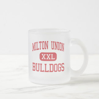 Milton Union - Bulldogs - High - West Milton Ohio Frosted Glass Coffee Mug