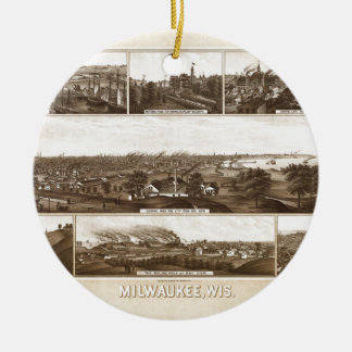 Milwaukee 1882 ceramic ornament