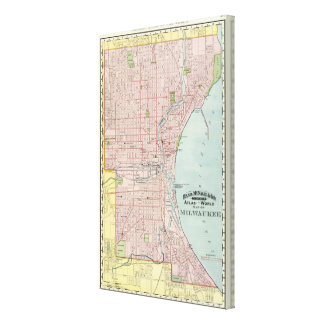 Milwaukee 2 stretched canvas print