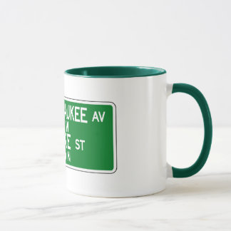 Milwaukee Avenue-Lake Street, Chicago, IL Sign Mug