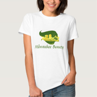 Milwaukee Beauty in Green, Yellow, and Gold Shirt
