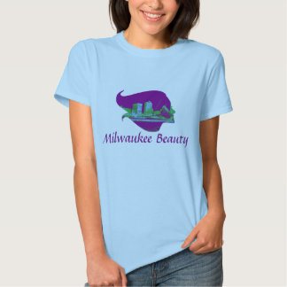 Milwaukee Beauty in Purple, Blue, and Green T-shirts