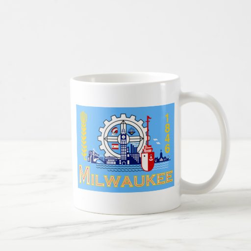 Milwaukee flag coffee mug
